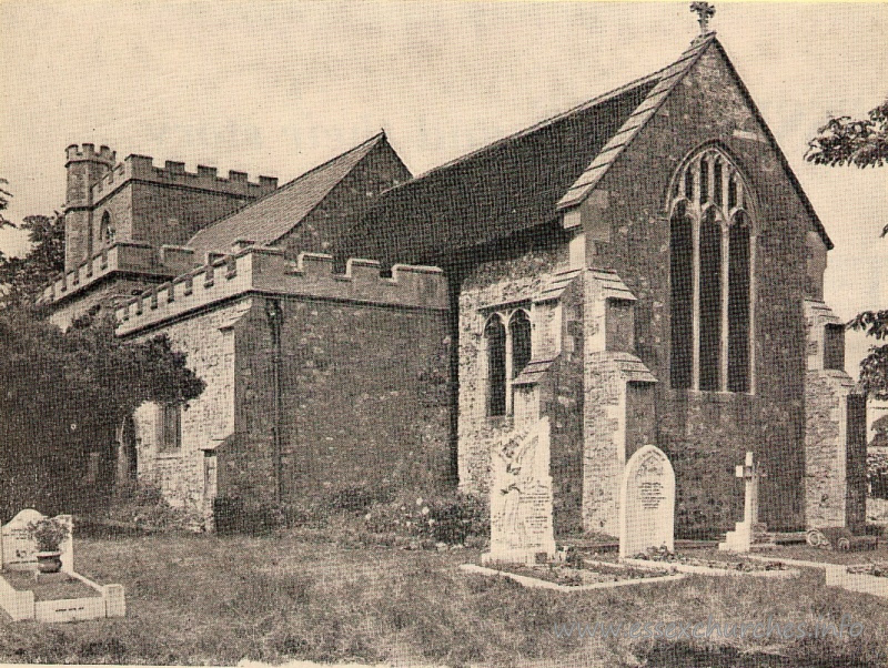 St John the Baptist, Mucking Church - Image by Lionel E. Day - from Essex Countryside, Spring 1955.