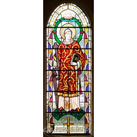 St Laurence & All Saints, Eastwood Church - Window in S wall, depicting St Laurence.