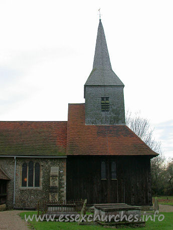 St Margaret of Antioch, Margaretting Church - Seen here, from the north, Margaretting church's crowning 