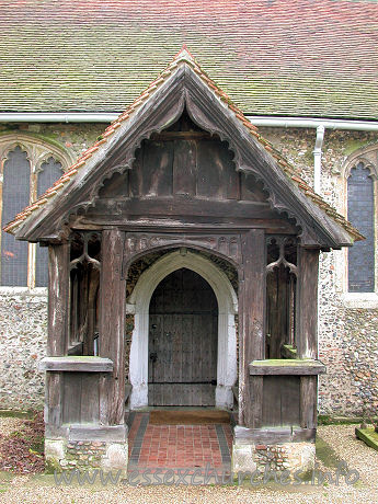 St Margaret of Antioch, Margaretting Church - The timber north porch.