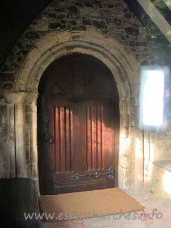 St Peter & St Paul, Horndon-on-the-Hill Church - This doorway is C13. Two orders of colonnettes, one keeled.