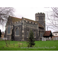 St Nicholas, South Ockendon Church - The perpendicular N chancel chapel is C13, as is the round tower.
