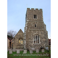 St Mary Magdalene, North Ockendon Church - The tower is C15 with diagonal buttresses.