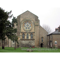 "Holy Cross, Waltham Abbey Church - From Pevsner: ""Waltham Abbey is no more than a fragment of 