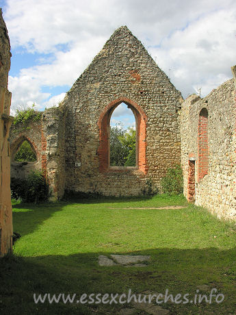St Peter (Ruins), Alresford Church - Looking west from the chancel.