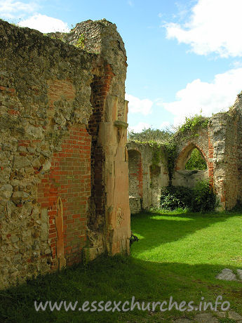 St Peter (Ruins), Alresford Church - Looking from the chancel to the south-west corner of the church.