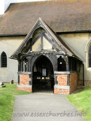 St James, Little Clacton Church - The timber S porch is probably C14.