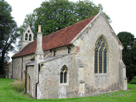 St Mary the Virgin, Little Chesterford Church - The nave and chancel here are C13, and are both covered by the one roof.