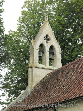 St Mary the Virgin, Little Chesterford Church - The bellcote is from C19.