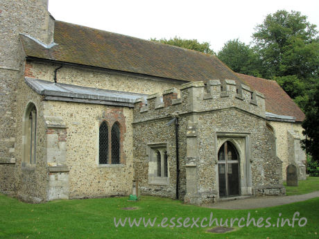 St Mary the Virgin, Henham Church - This embattled S porch dates from C15.