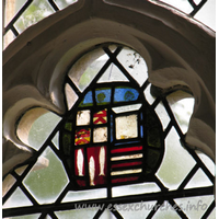 St Mary the Virgin, Henham Church - Detail in the S chancel window.