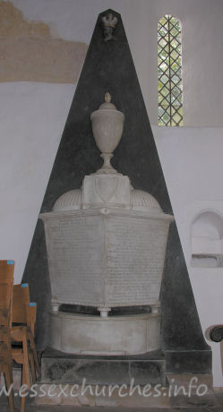 St Mary the Virgin, Henham Church - This monument is for Samuel Feake. Made in 1790, by W. Vere of Stratford.