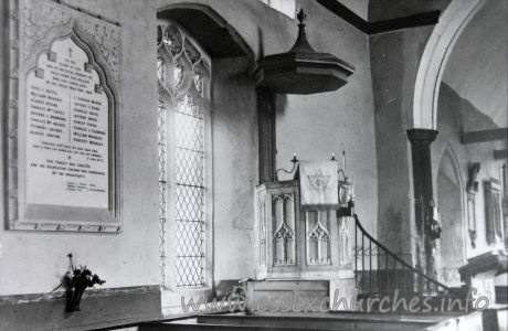 St Andrew, Helion Bumpstead Church - Taken from a picture in the church.