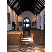 All Saints, Nazeing Church - Looking westwards, from the chancel arch.