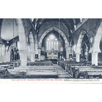 Church of our Blessed Lady & St Helen, Westcliff-on-Sea  Church - This postcard scan was kindly supplied by Tony Brown of http://www.miltonconservationsociety.com.
