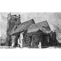 St Andrew, Langenhoe Church - Langenhoe church, seen here shortly after the earthquake of 1884. See the Wikipedia link under Church Details for more information.