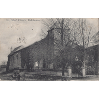St Giles, Colchester  Church - Postmarked June 7th 1906. Postcard marking 'H. G. R., C. Photo by Gill'