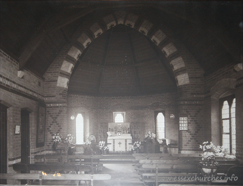 St Barnabas, Colchester Church - From a picture in the church, with the caption 'Presented to Robert John Sage by the congregation of S.Barnabas, Old Heath, Colchester in appreciation of his fifty years faithful service as their Churchwarden. Easter 1925.'