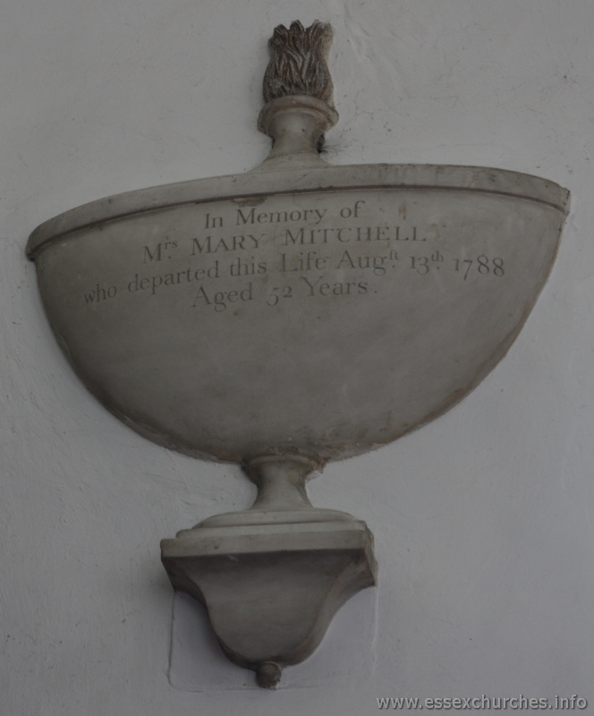 St Mary & All Saints, Lambourne Church - In memory of Mrs Mary Mitchell who departed this life August 13th 1788, aged 52 years.